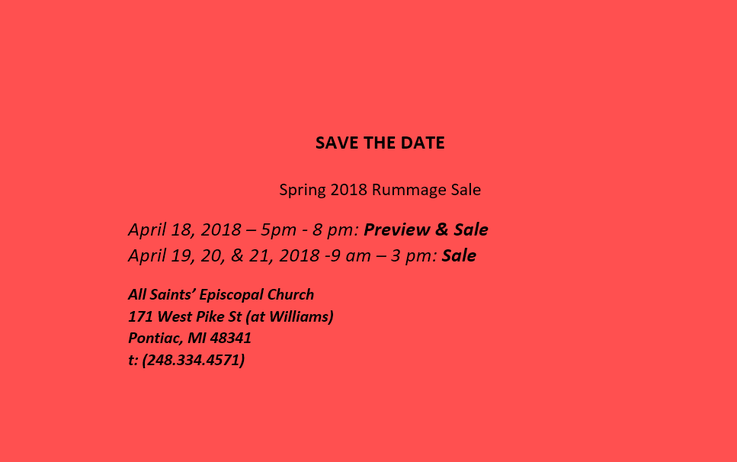 News - All Saints' Episcopal Church - Pontiac, MI